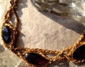 Vintage Goth Purple Necklace GOT Dragon Queen