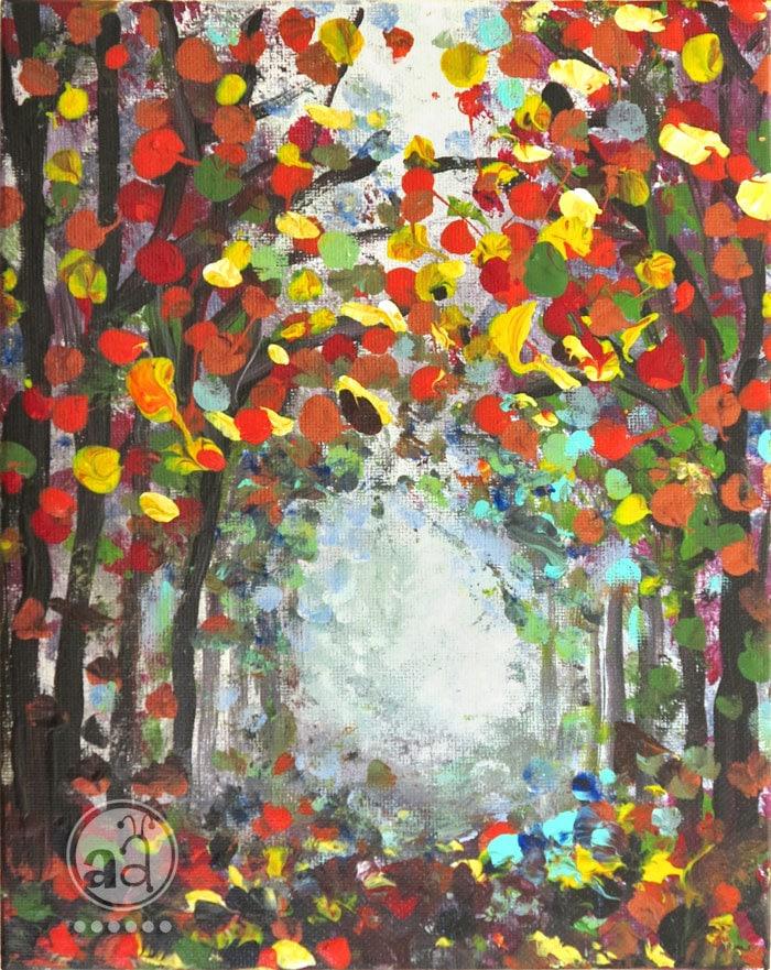 Fall Leaves Autumn Colors Original Painting Falling