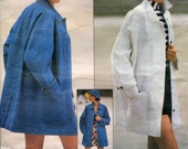 Vogue 2958 Donna Karan DkNY Casual Barn Jacket Coat B34 B36 B38