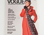 Gorgeous vintage Vogue Pattern Book International October / November 1969 red patchwork fashionista designers couture fur era women