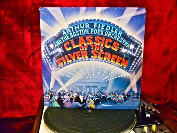 ARTHUR FIEDLER and the BOSTON Pops Orchestra - Classics of the Silver Screen - 1979 Vintage Vinyl 2 lp GATEFOLd Record Album