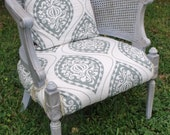 On Hold for JoannaBoyle - Accent chair - Upholstered Chair - Beach Cottage Chic