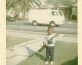 "Vintage Photo ""Playing Guitar"", Photography, Paper Ephemera, Antique, Snapshot, Old Photo, Collectibles - 0027"