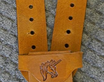 Sword BELT w/ UNICORN Emblem - Handmade Leather