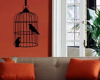 Bird Cage with Crows