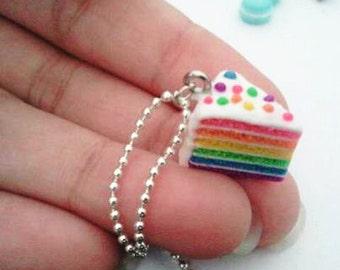 Girls necklace - Rainbow Cake