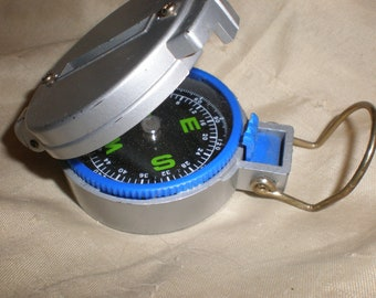 Field Compass Mid Century Engineer/Military/ Directional Lensatic Style Outdoor Accessory