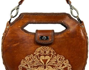 Tooled Leather Handbag - Hilltop