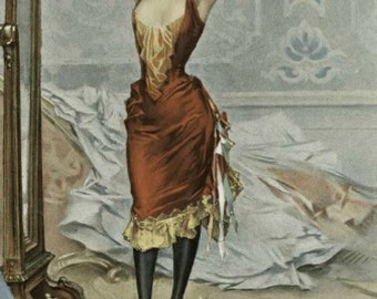 Woman in a Masquerade Costume - Cross stitch pattern pdf format