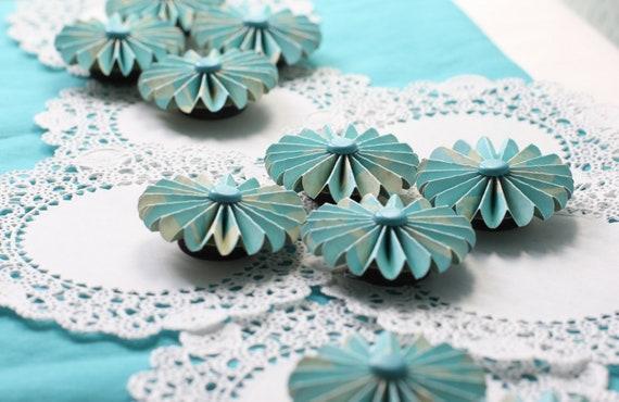 Blue Favor Paper Magnet Set ONE DOZEN Set
