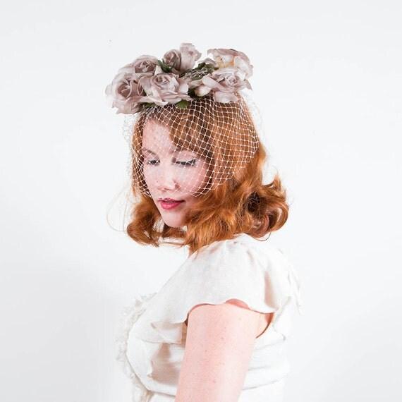 vintage 1960s hat / floral whimsy / Pasadena