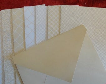8 Earth tones, Cream, Beige Handmade Envelopes