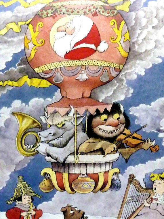 Vintage Maurice Sendak Poster Print - I. MAGNIN