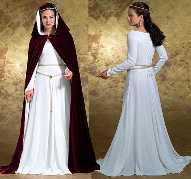 Medieval Dress And Cape Pattern Butterick B4377 Misses Gothic