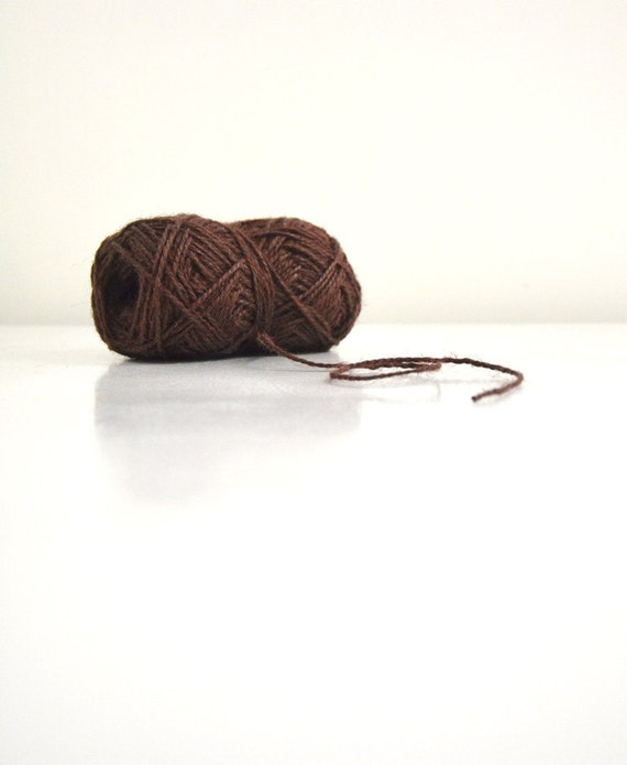 Jute Twine Chocolate Brown 100 Yard Ball/ rustic yarn / Burlap Craft String
