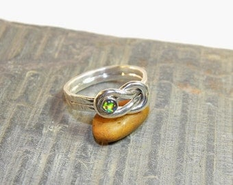 Lovers Infinity Ring With Gemstone of Your Choice R123