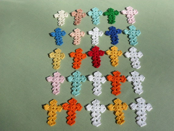Multiple Crocheted Crosses - made to order