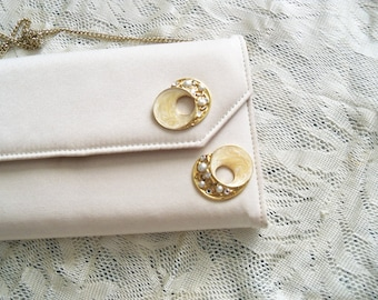 Ivory Redesigned Purse Vintage Earrings Decoration Gold Tone Chain Shoulder Strap Top Handle Handbag Gift Guide Women
