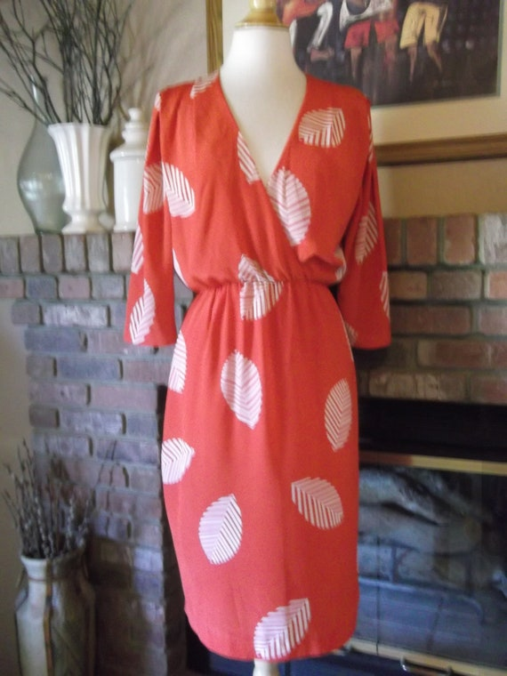 1980s Red Midi Dress Reserved For Mookie Cohen (mookieblas)