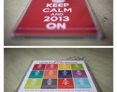 SALE 2013 keep calm and carry on calendar without desktop case