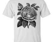 Mens Screen Printed Rose Shirt