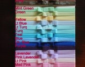 SALE You PICK 10 Colors Soft Foldover Elastic Baby Bow Headbands. Toddler Gift Set. Baby Shower Gift Simple bow headbands