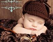 Crochet Detective / Sherlock Hat - Custom Size and Color