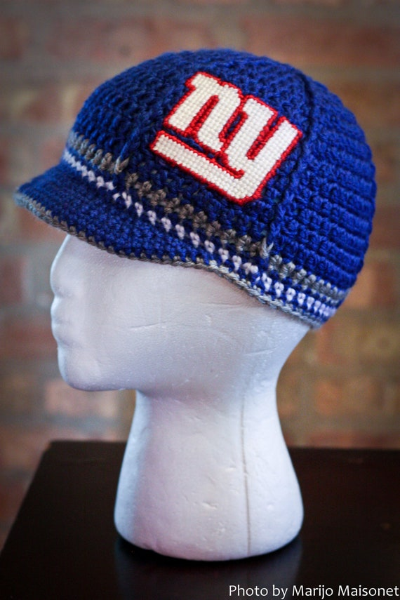 New York Giants Inspired Crocheted Baseball Cap (Teen - Adult Size) (Made to Order)