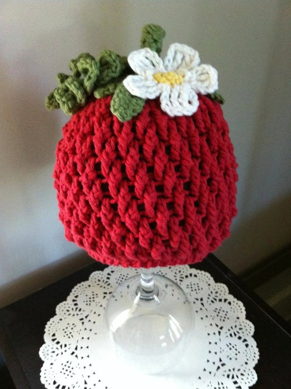 Crochet Pattern for Berrylicious Strawberry Beanie Hat 6