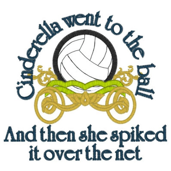 Cinderella Volleyball T-shirt Embroidered