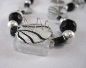Zebra Swirls Necklace