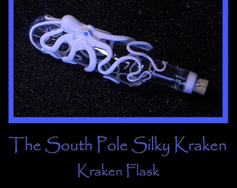 Octopus Art, The South Pole Silky, Kraken Flask. Octopus Sculpture by Elstwhen
