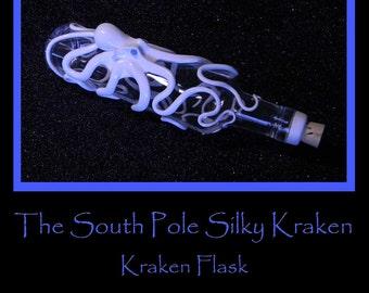 Octopus Art, The South Pole Silky, Kraken Flask. Octopus Sculpture by Elstwhen