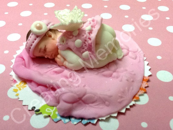Baby Shower Cake Decorations Edible : Baby Fairy Edible Cake Topper/Baby Shower/First Birthday/ Cake