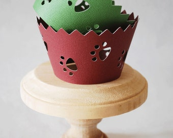 Paw Print Cupcake Wrappers In Your Choice of Color Qty 12 By Your Little Cupcake