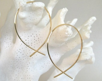 Gold Simplicity Hoop Earrings II