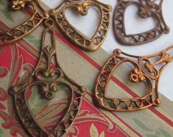 Art Nouveau Style Drop Pendent