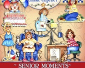 Senior Moments, Digital Art, clipart, scrapbooking, card making, Laurie Furnell, Senior clipart, papercrafts, scrapbooking, printables, cute
