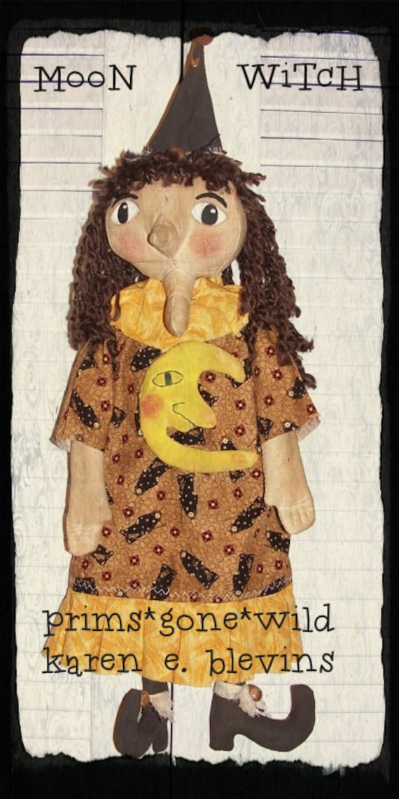 HOLD Special Order For Deb DoLL Primitive Grungy Folk ArT HaLLoWeen MooN WiTcH Doll S244W PrimsGoneWild