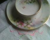 SALE-Vintage Nippon Two Tier Handpainted Porcelain Serving Dish