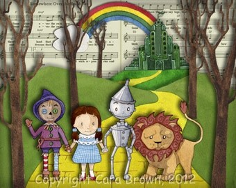 Wizard of Oz Nursery Art Print Wall Decor 8 x 10 matted
