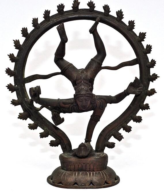 RESERVED for Saran: Antique Turn of the Century Hindu Bronze Chola Style Statue 'Shiva Bringing Goddess Ganga to Earth'