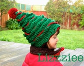 Oh Christmas Tree Crochet Hat PATTERN PDF file - Instructions to make super cute hats, 6 sizes newborn to adult - Instant Digital Download