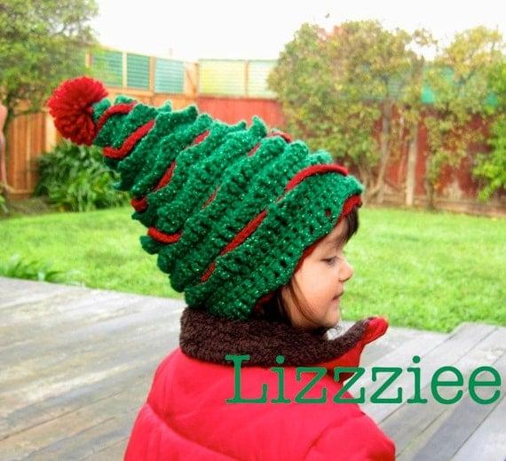 Oh Christmas Tree Crochet Hat Pattern Pdf File Instructions Etsy
