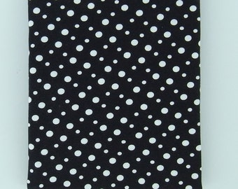 LOTS OF DOTS black and white cotton elastane single jersey knit, 1 m