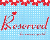 Custom Listing RESERVED for JacquelynDoty