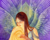New World : Angel Inspirational Fantasy Art Blank Card