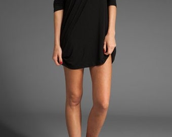 LITTLE BLACK DRESS Black Dresses Night Out Dress Off the shoulder Sexy Little Black Dress Long Sleeve Cowl Dress Black Dresses lbd