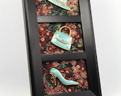 Framed Vintage Jewelry Art on Tapestry - Material Girl