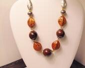Designer Orange Necklace - Perfect for Fall - Burnt Orange, UT Longhorns, UT Colors